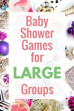 Large Baby Shower Ideas! Baby Shower Bingo Cards. 80 different printable baby shower bingo cards. Instantly download this printable baby shower game. Baby shower game play for large baby showers - up to 80 guests! One less thing for you to worry about before the big baby shower! https://www.momresource.com/baby-shower-games-for-large-groups
