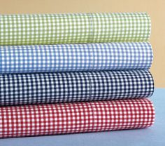 Gingham Crib Fitted Sheet | Pottery Barn Kids