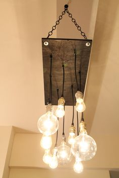 etsy.com...cool industrial light fixtures. Either for hallway lighting or above kitchen table.
