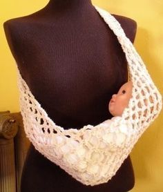 Crochet Pattern For Doll Sling : Baby Sling Pattern on Pinterest Baby Sling Tutorial, Diy ...