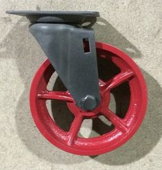 5 inch Red Vintage Industrial Swivel Caster