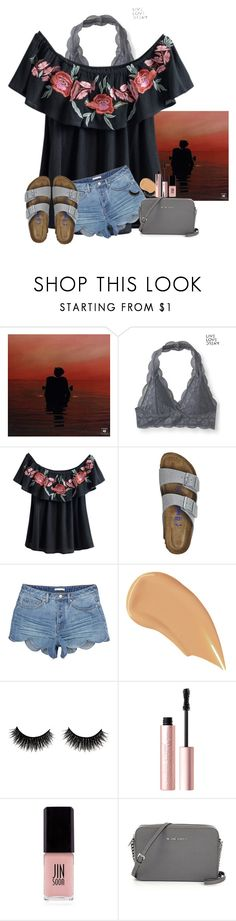 """""""""""Just stop you're crying it's the sign of the times""""~Harry Styles"""" by amaya-leigh ❤ liked on Polyvore featuring Aéropostale, Birkenstock, NARS Cosmetics, Too Faced Cosmetics and JINsoon"""