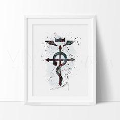 Fullmetal Alchemist, Flamel Symbol Art Print Wall Decor