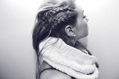 double braid on side of head