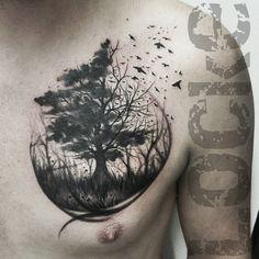 Fun little tattoo today. Dream Tattoos, Life Tattoos, Body Art Tattoos, Sleeve Tattoos, Fox Tattoos, Tree Thigh Tattoo, Tree Tattoo Back, Celtic Tree Tattoos, Willow Tree Tattoos