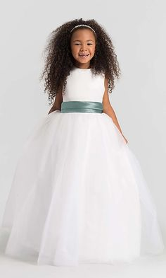 5e46911db43 High-Neck Dessy Girl Flower Girl Dress FL4002