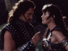 ares trying woo xena back to the dark side