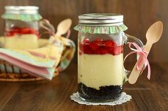 Baked Cheesecake In A Jar #SundaySupper