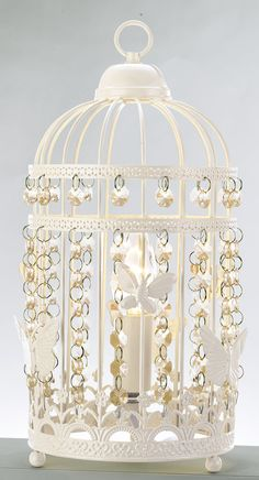 ❤❤❤ Copyrights unknown. Inspire Birdcage Table Lamp from Argos. Vintage Elegance. £19.98