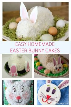 Simple and fun Easter bunny cake ideas. Get a little creative this Easter and learn how to make some bunny rabbit cakes that the kids are going to love. From simple elegant cakes to 3D cakes and funny face and but cakes, there is something that everyone can enjoy. Each of these recipes have easy tutorials for you to follow to enable you to create something special this Easter. Easter Snacks, Easter Treats, Easter Recipes, Rabbit Cake, Bunny Rabbit, Simple Elegant Cakes, Easter Bunny Cake, 3d Cakes, Easter Printables