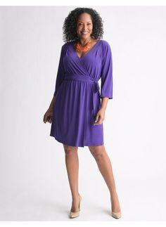 Lane Bryant Wrap dress - Women's Plus Size/Black, Spectrum blue - Size