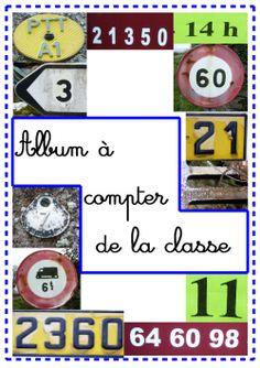 Un àlbum per comptar amb fotografies de nombres: genial! Grande Section, Album, Ms Gs, Counting, Science, Teaching, School, Make A Book, Pictures
