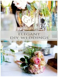 DIY Weddings don't have to look simplistic. Make your DIY day beautiful and elegant! #wedding #pinoftheday