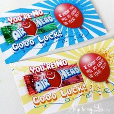 You're No AIR HEAD Good Look! I know you will do great on your test!