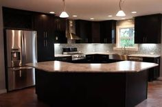 Angled Kitchen island Home Sweet Home Pinterest Kitchens