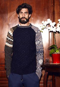 Casely-Hayford fall winter 2012 collection, featuring modern takes on fair isle knits.
