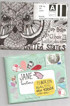 Cool Envelope Design Drawing