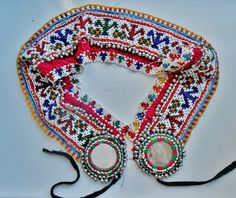 Beaded tribal belt from the Kuchi tribes door TheBohemianLifestyle