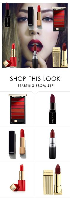 Sem título #287 by yasmin-5 on Polyvore featuring beleza, Chanel, Lipstick Queen, Estée Lauder, L'Oréal Paris, Smashbox and MAC Cosmetics