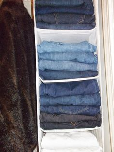 DIY Friday: The Best Way To Store Your Jeans And Create Space In Your Closet - Chic From Hair-2-Toe