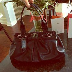 Authentic Coach Black Jewel Leather Handbag