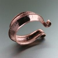 Fold Formed Copper Cuff Bracelet. Dramatic and Distinctive in Style   http://www.ilovecopperjewelry.com/fold-formed-copper-cuff-bracelet.html  $180.00