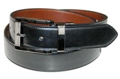 Dockers Men's 30mm Cut Edge Reversible Belt,Black/Brown,46 Dockers. $22.50. 100% Leather. leather. Imported. 0. Cut edge reversible belt with stitch and polished gunmetal finish