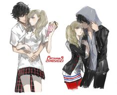"[AkirAnn] / [RenAnn] ""The seasons may change, but I'll always be your Joker. And you, my Lover. Persona 5 Game, Persona 5 Joker, Anime Love Couple, Cute Anime Couples, Couple Art, Ren Amamiya, Shin Megami Tensei Persona, Akira Kurusu, Couple Relationship"