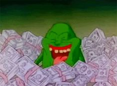 vintage 80s retro 1980s money nostalgia ghostbusters 80s kids make it rain slimer 80s cartoons lottery the real ghostbusters i win get money wahoo i'm rich all the money so much money trending #GIF on #Giphy via #IFTTT