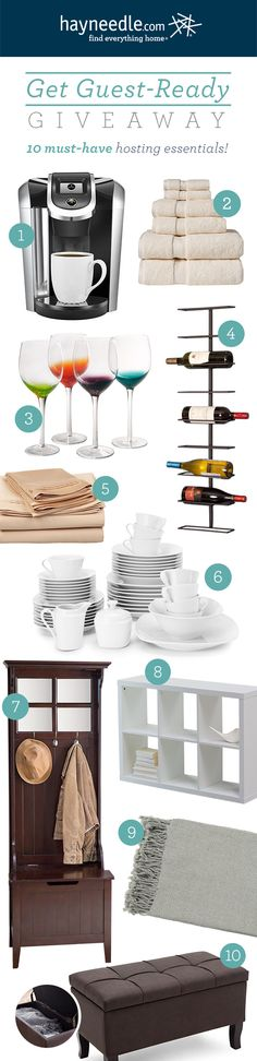 Win everything you need to get guest-ready!