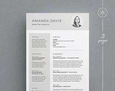 resume templates for indesign Amanda Resume/CV Template Word Photoshop InDesign Cv Template Free, Cv Template Word, Letter Templates, Resume Templates, Design Templates, Cv Design, Resume Design, Page Design, Graphic Design