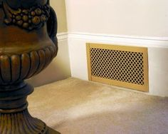 This style is the Drop-In Wall Grille in the Cloverleaf design and the Antique Brass plated finish