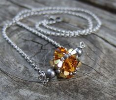 Items similar to Golden Topaz Necklace - Beaded Yellow Necklace - Swarovski Crystal Necklace - Silver Necklace Chain - Romantic Jewelry - Bridesmaid Gift on Etsy Yellow Necklace, Silver Chain Necklace, Beaded Necklace, Pendant Necklace, Swarovski Crystal Necklace, Swarovski Crystals, Topaz Jewelry, Bridesmaid Gifts, Jewelery