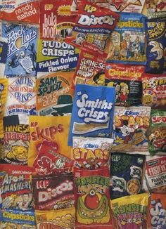 lots of different crisps....some of which you can still get....