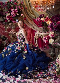 Stella De Libero: another dress in the rich blue of earlier that I fell in love with...I'm not quite as in love with this design as the other, but nonetheless, it is gorgeous!!!