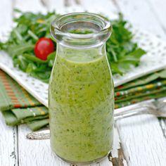 Creamy Avocado Citrus Salad Dressing - No Cream, No Oil!