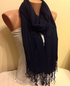 A personal favorite from my Etsy shop https://www.etsy.com/listing/208471864/pashmina-very-dark-blue-scarf-fringed
