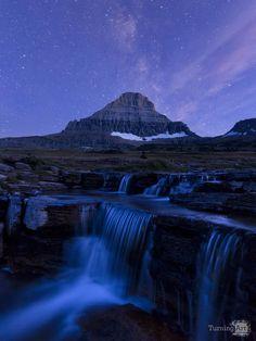 Glacier by Night by Seattle artist Justin  Reznick .