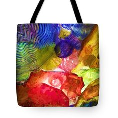 "Stained glass lightness Tote Bag 18"" x 18"""