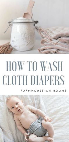 How to Wash Cloth Diapers my natural washing routine and a diy cloth diaper detergent recipe #clothdiapers #naturalbaby #babies #babyclothing #newbornbaby