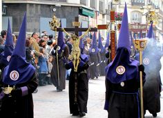 Procession of the Holy Week, Easter, in Zaragoza, Spain