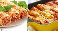 Cannelloni à la Tunisienne Cannelloni, Sauce Tomate, Ramadan, Lasagna, Ethnic Recipes, Red Chili, Ground Meat, Tomatoes, Tunisian Recipe