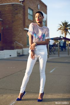 Micah Gianneli_Jesse Maricic photographer_Controle Creatif_Street style editorial_Best fashion blogger_Isla_Talulah_Lauren Marinis_Micah gianneli X Mossman_Summer editorial_All white editorial_Sunset editorial_Androgynous model editorial