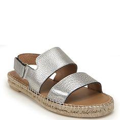 2fd1894ec36376 275 Central Womens Flat Dual Strap Espadrille Sandal 37M Silv -- Don t get