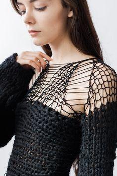 khaos : sweater dress by MorphKnitwear on Etsy