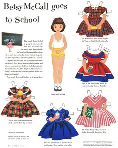 Do you remember  Betsy McCall paper dolls?  Grandma always saved these for me. I still love paper dolls!