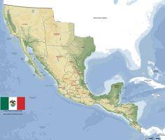 Mapa de las subdivisiones del primer imperio mexicano (1821)