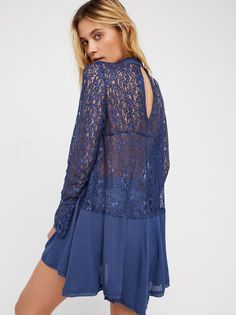 Secret Origins Pieced Lace Tunic at Free People Clothing Boutique