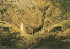 Grabmale alter Helden (Old Heroes' Graves) (Gräber gefallenere Freiheitskrieger, Grab des Arminius) (1812).  Caspar David Friedrich