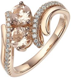Le Vian 14ct Strawberry Gold Peach Morganite   Diamond Ring - ShopStyle 69aa90dc2b0